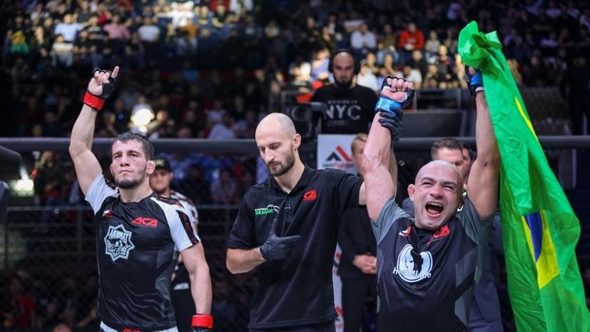 Юнусов проведёт реванш с Брандао на турнире ACA 112