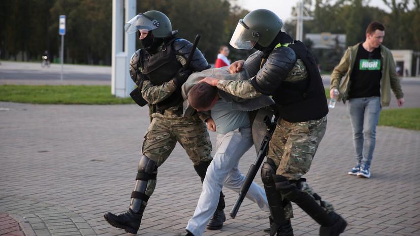 В ГУВД заявили о задержании нескольких десятков протестующих в Минске