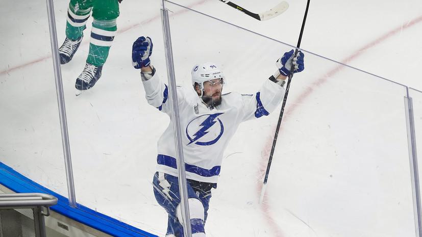 Кучеров вышел на восьмое место по очкам за карьеру в плей-офф НХЛ среди россиян