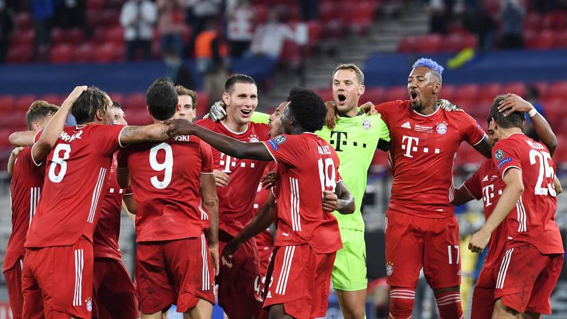 «Бавария» во второй раз в истории завоевала Суперкубок УЕФА