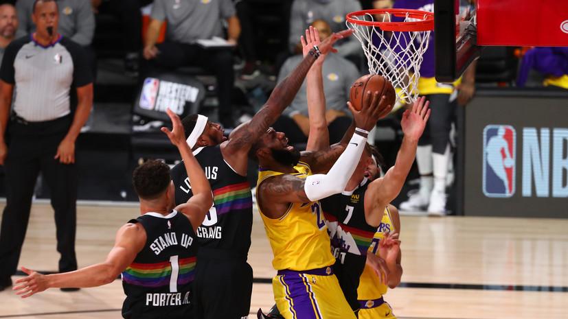 Звезда «Лейкерс» Джеймс превзошёл рекорд Джордана в матче с «Денвером»