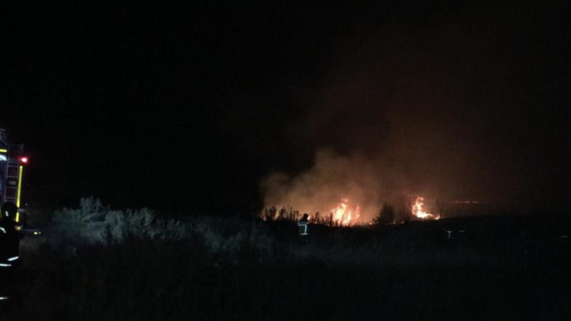 В Ростовской области тушат крупный природный пожар