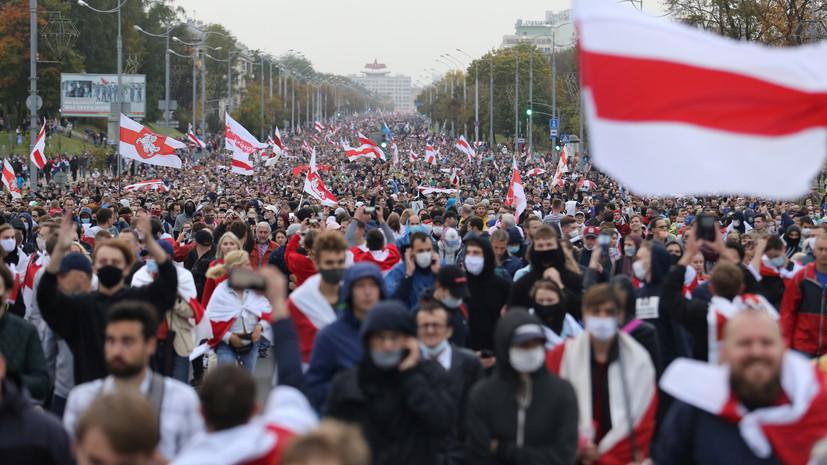 Сокращение численности митингующих и предупреждение от МВД: как прошла очередная акция протеста в Белоруссии