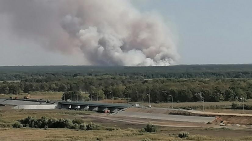 МЧС рассказало о ходе тушения природных пожаров в Воронежской области