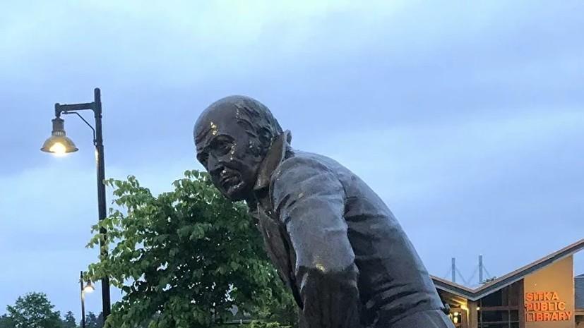 Памятник русскому губернатору Баранову на Аляске убрали в музей