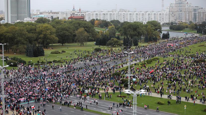 Милиция Минска сообщила о задержаниях на несанкционированных акциях