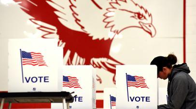 Избирательный участок, город Мадисон, 6 ноября 2018 года