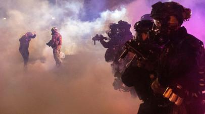 Разгон демонстрантов правоохранителями, американский город Портленд