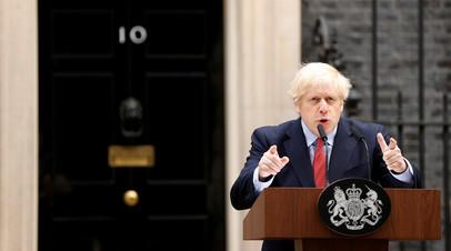 Премьер Великобритании Борис Джонсон