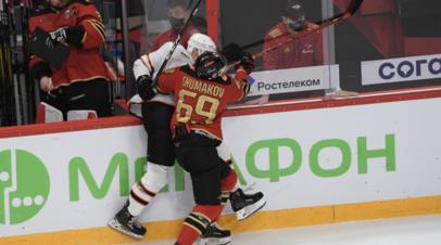Шумаков забросил шайбу в стиле лакросс в матче КХЛ с «Амуром»
