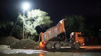 В мэрии Хабаровска рассказали о ходе строительства дамб от паводков