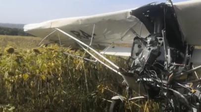 Легкомоторный самолёт совершил жёсткую посадку под Ульяновском