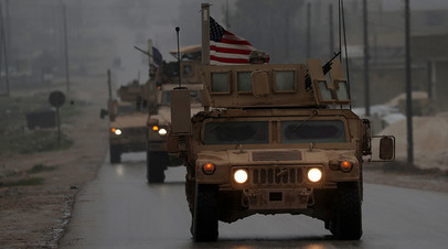 Колонна ВС США на севере Сирии