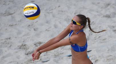 Макрогузова и Холомина проиграли в полуфинале женского ЧЕ по пляжному волейболу