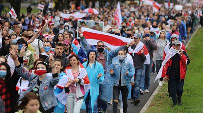 Протестная акция в Белоруссии