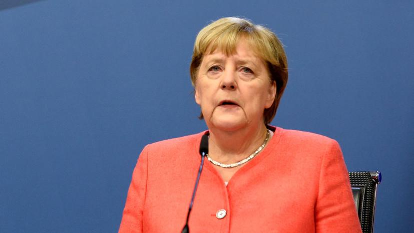 Меркель назвала запоздалыми санкции ЕС против Белоруссии