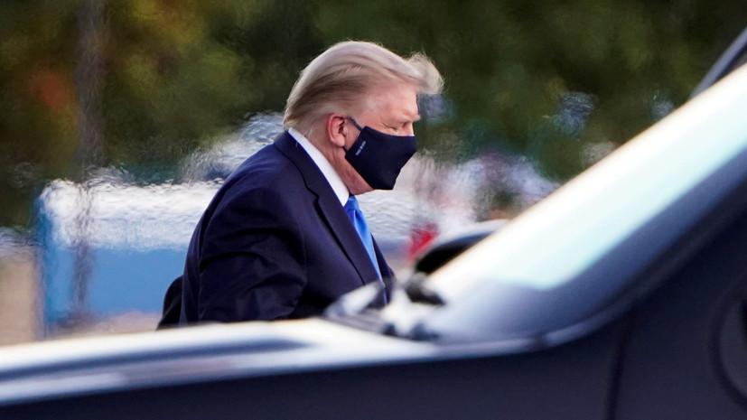 В Белом доме рассказали о снижении уровня кислорода в крови Трампа