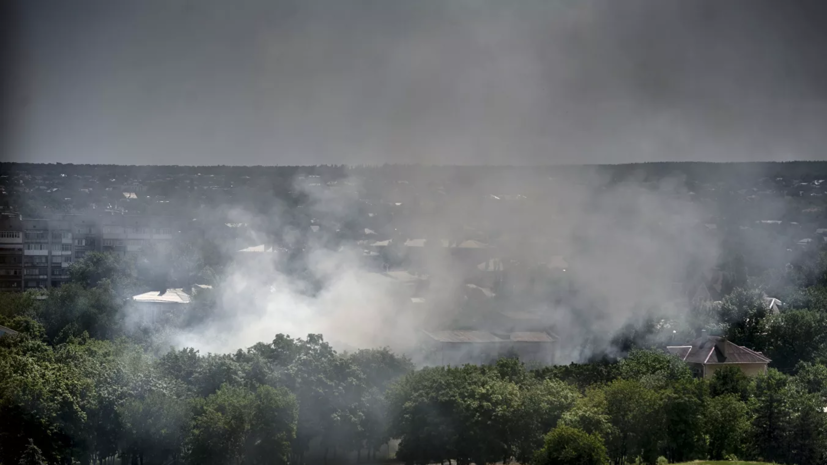 Пожар в Луганской области Украины привёл к детонации боеприпасов