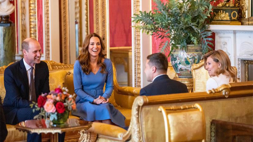 Зеленские встретились с герцогом и герцогиней Кембриджскими
