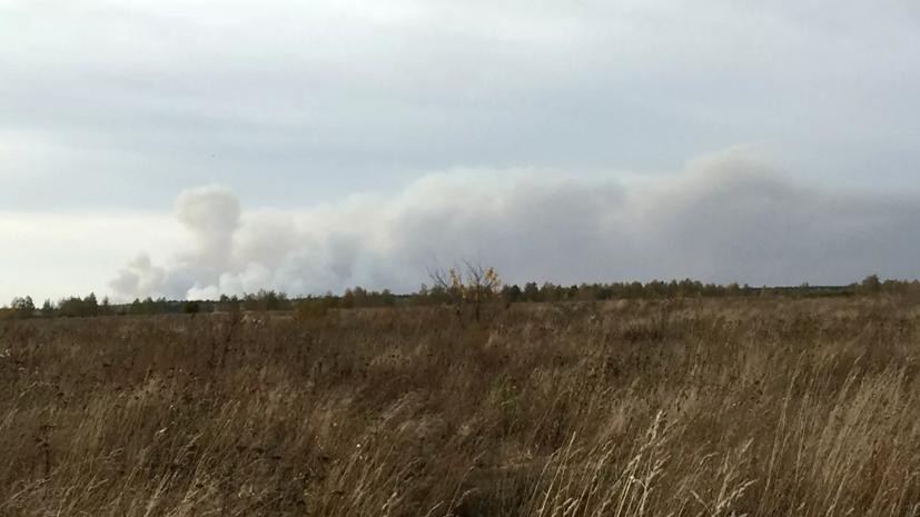 В Рязанской области увеличили группировку ликвидирующих пожар на арсенале