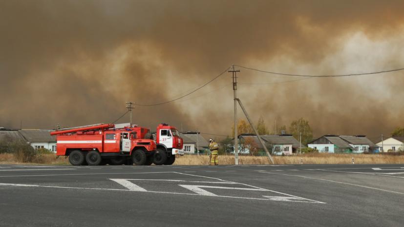 Территория вокруг горящего склада боеприпасов под Рязанью оцеплена