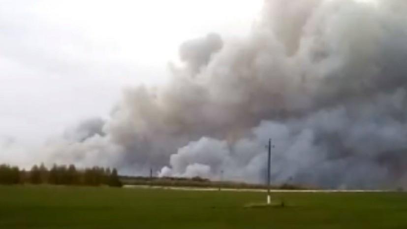 Сапёры прибыли на место взрывов снарядов на военных складах