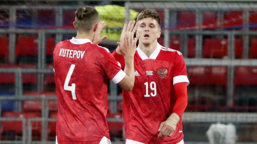 Соболев отличился забитым мячом в дебютном матче за сборную России