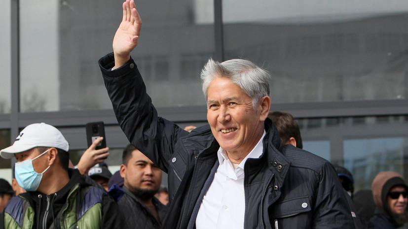 В Бишкеке обстреляли автомобиль Атамбаева