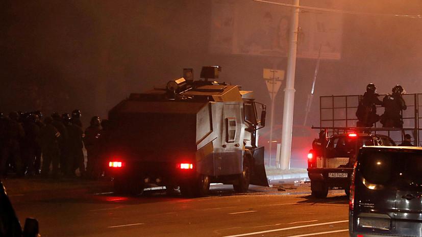 В ГУВД Минска рассказали о пострадавших в ходе протестов милиционерах