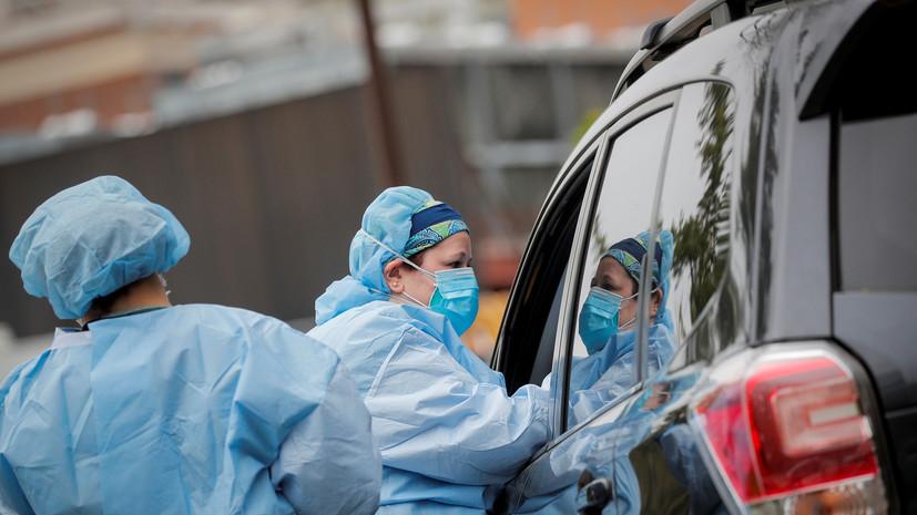 В США за сутки выявили более 62 тысяч новых случаев коронавируса