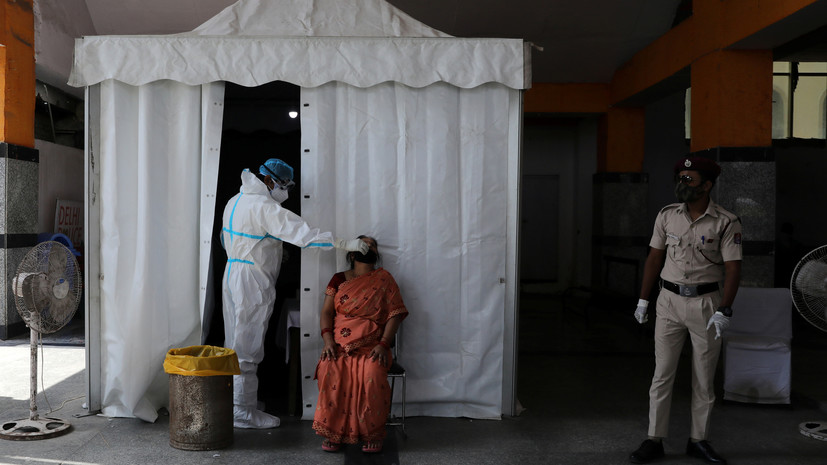 В Индии за сутки зафиксировали почти 62 тысячи случаев коронавируса