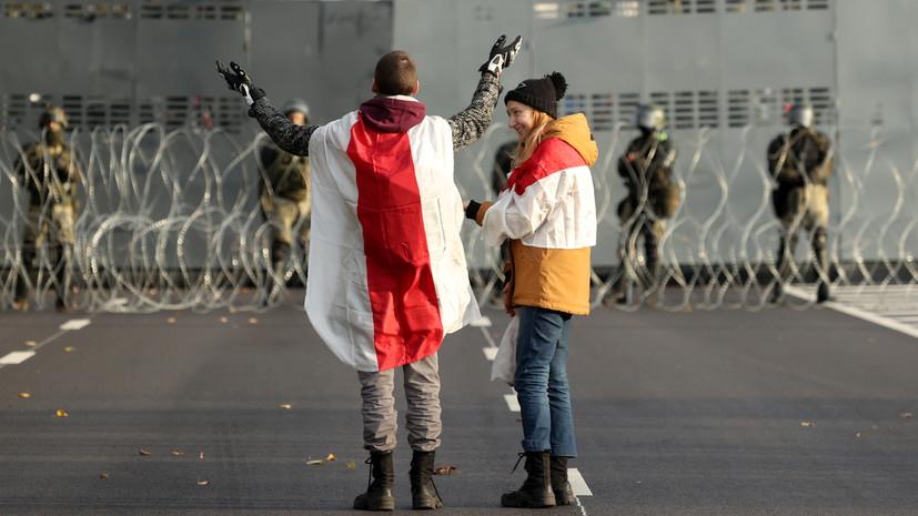 В Минске силовики сделали предупредительные выстрелы резиновыми пулями