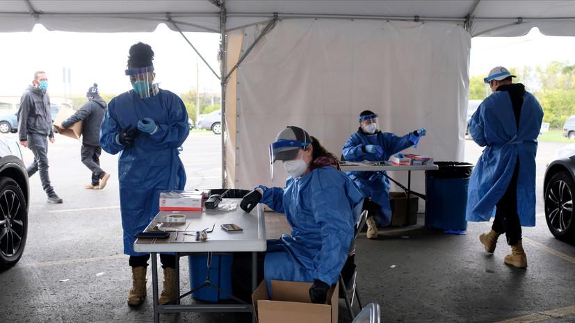 В США за сутки выявили более 58 тысяч новых случаев коронавируса