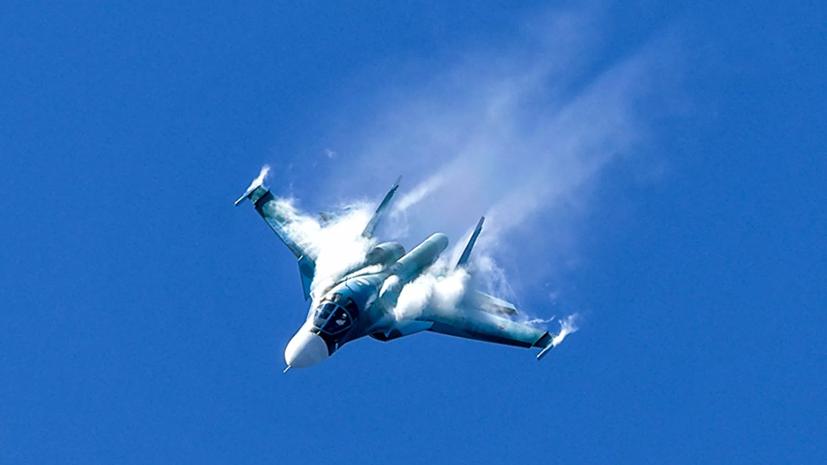 Самолёт Су-34 потерпел аварию в Хабаровском крае