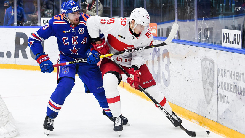 «Спартак» в Санкт-Петербурге победил СКА в матче КХЛ