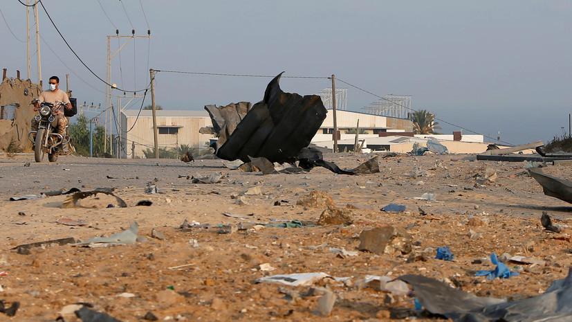 Израиль нанёс удар по ХАМАС в ответ на пуски ракет