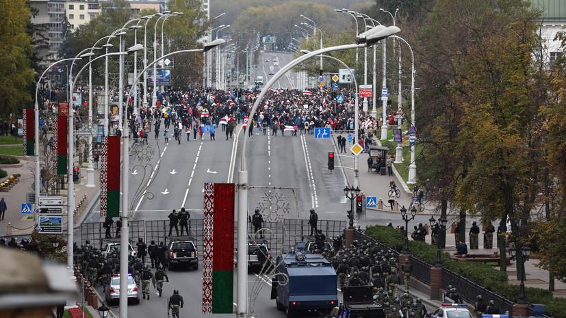 В Минске проходит шествие сторонников оппозиции
