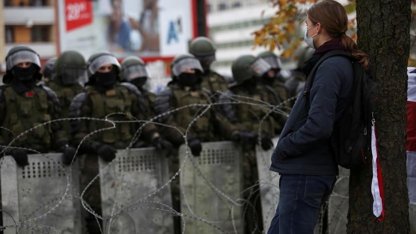 В Минске против протестующих применили спецсредства