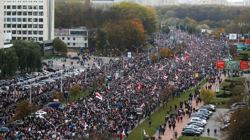 В ГУВД заявили о задержаниях участников протестов в Минске