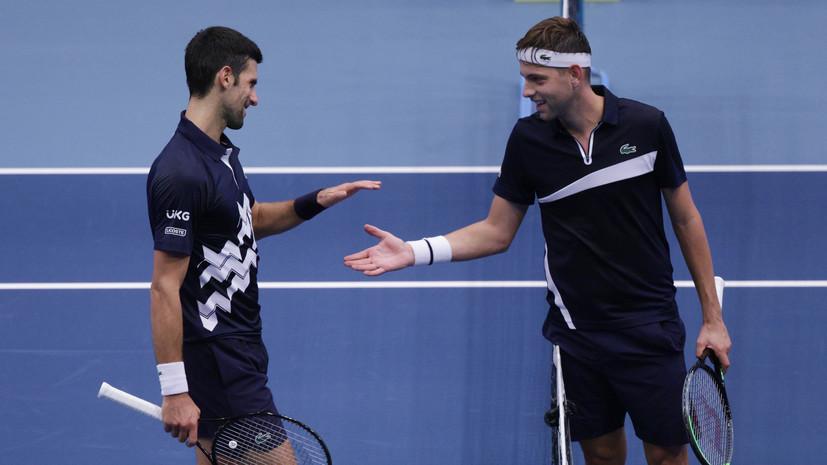 Джокович обыграл Краиновича и вышел во второй раунд турнира ATP в Вене