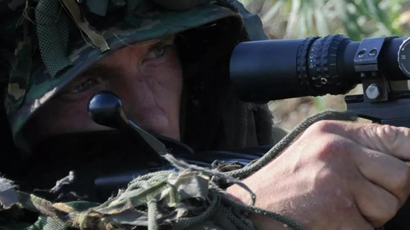 В Хабаровском крае прошли учения с участием снайперов ВВО