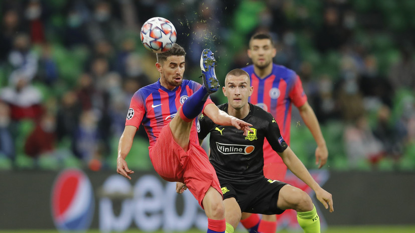 Несколько футболистов «Краснодара» не встали на колено перед матчем ЛЧ с «Челси»