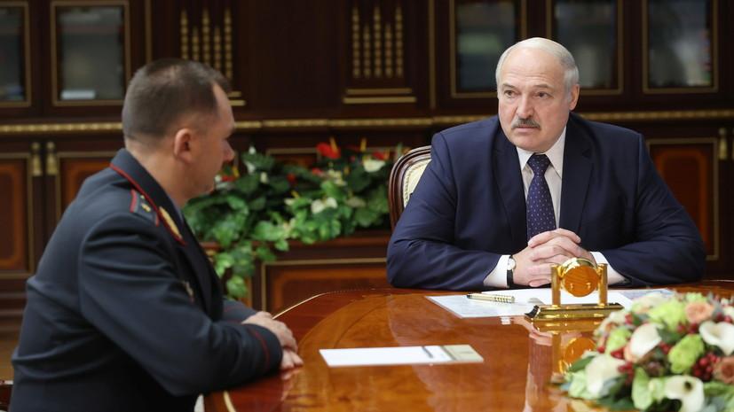 Новый глава МВД Белоруссии назвал свои приоритетные задачи