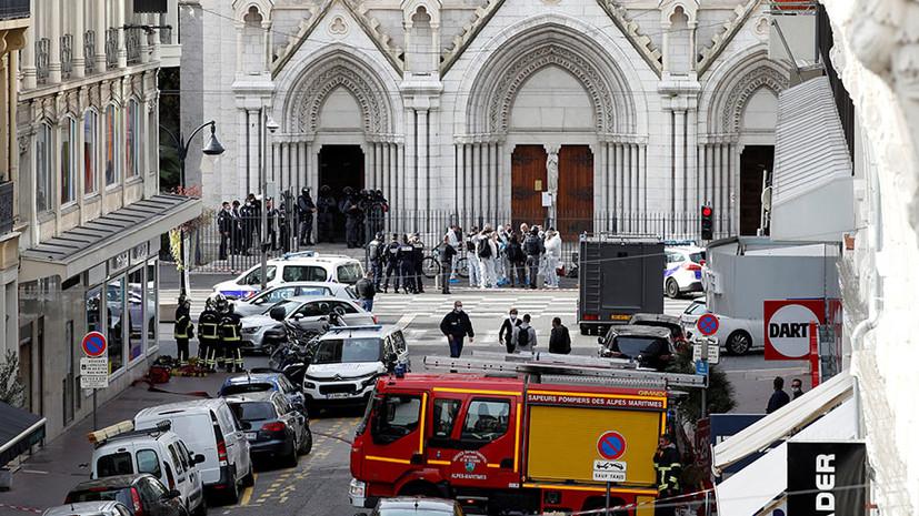 «Ответ правительства будет безжалостным и немедленным»: три человека погибли при нападении на прихожан в Ницце