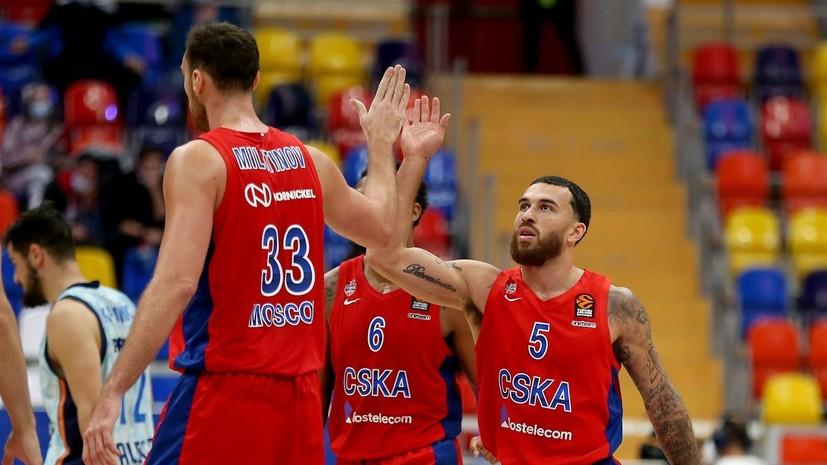 ЦСКА победил «Валенсию» в баскетбольной Евролиге