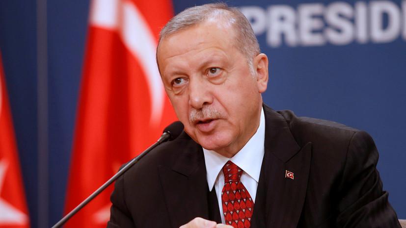Эрдоган прокомментировал землетрясение в Измире