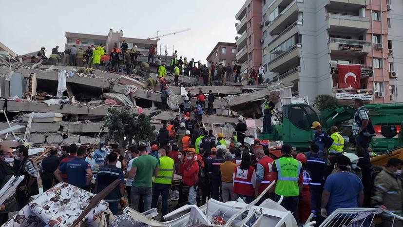 Путин выразил соболезнования Эрдогану в связи с землетрясением