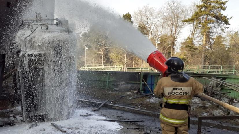 Пожар в челябинской поликлинике ликвидирован