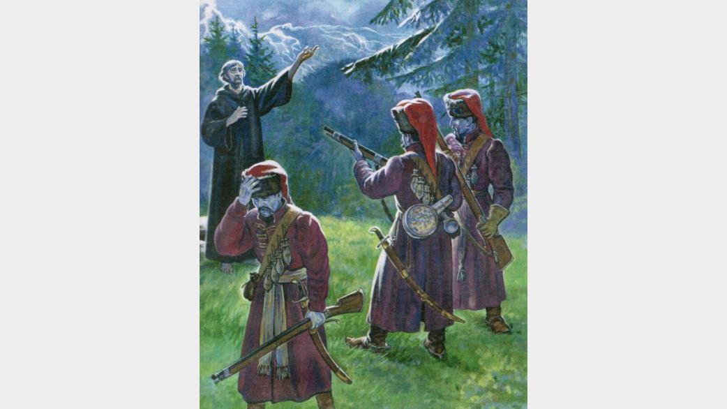 Православный святой Афанасий Брестский благословляет своих убийц                                                                      © ortodossiatorino.net