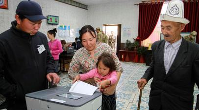 Избирательный участок в Киргизии